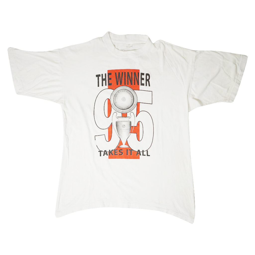Vintage 1995 Ajax 'The Winner Takes It All' T-Shirt