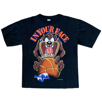 Vintage 1997 Space Jam Taz 'In Your Face' T-Shirt