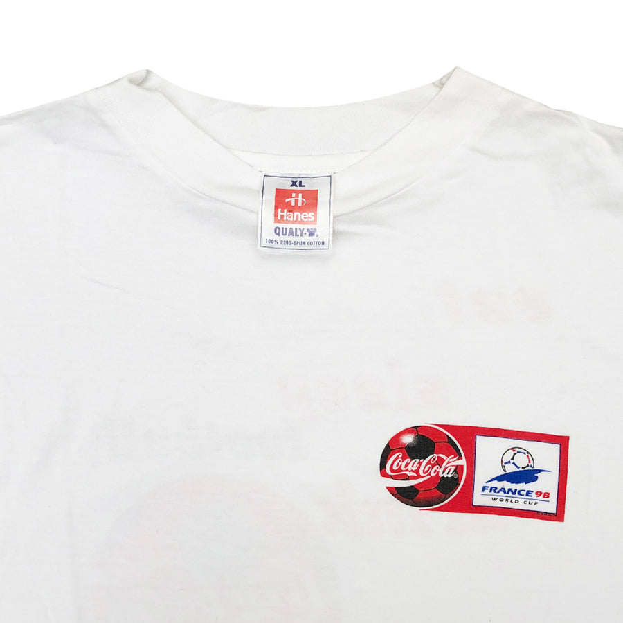 Vintage 1998 Coca-Cola 'France 98 World Cup' T-Shirt