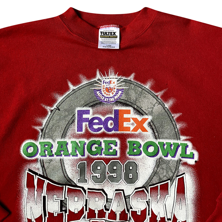 Vintage 1998 Nebraska Huskers 'Orange Bowl' Sweater
