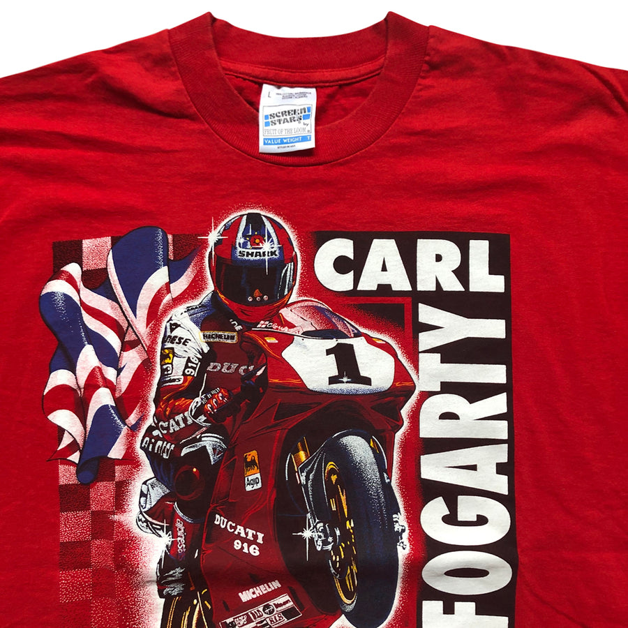 Vintage 90s Carl Fogarty 'World Superbike Champion' T-Shirt