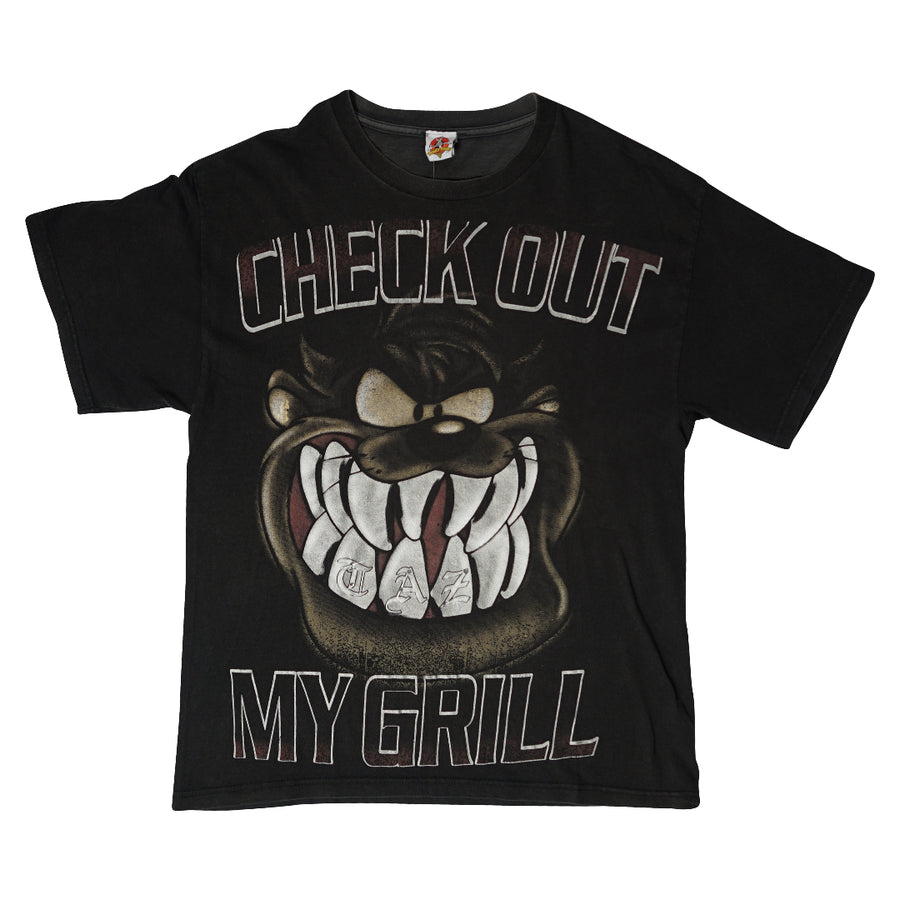 Vintage 90s Tazmanian Devil 'Check Out My Grill' T-Shirt