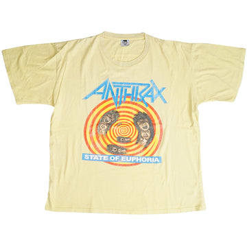 Vintage 1988 Anthrax 'State Of Euphoria' T-Shirt