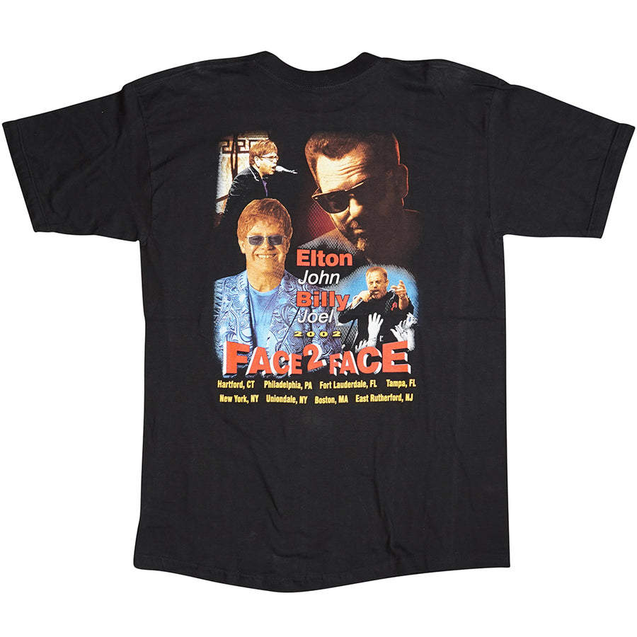 Vintage 2002 Elton John & Billy Joel 'Face 2 Face Tour' T-Shirt