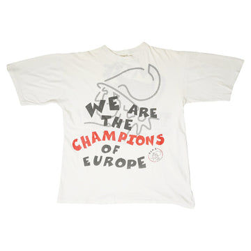 Vintage 1995 Ajax 'We Are The Champions Of Europe' T-Shirt