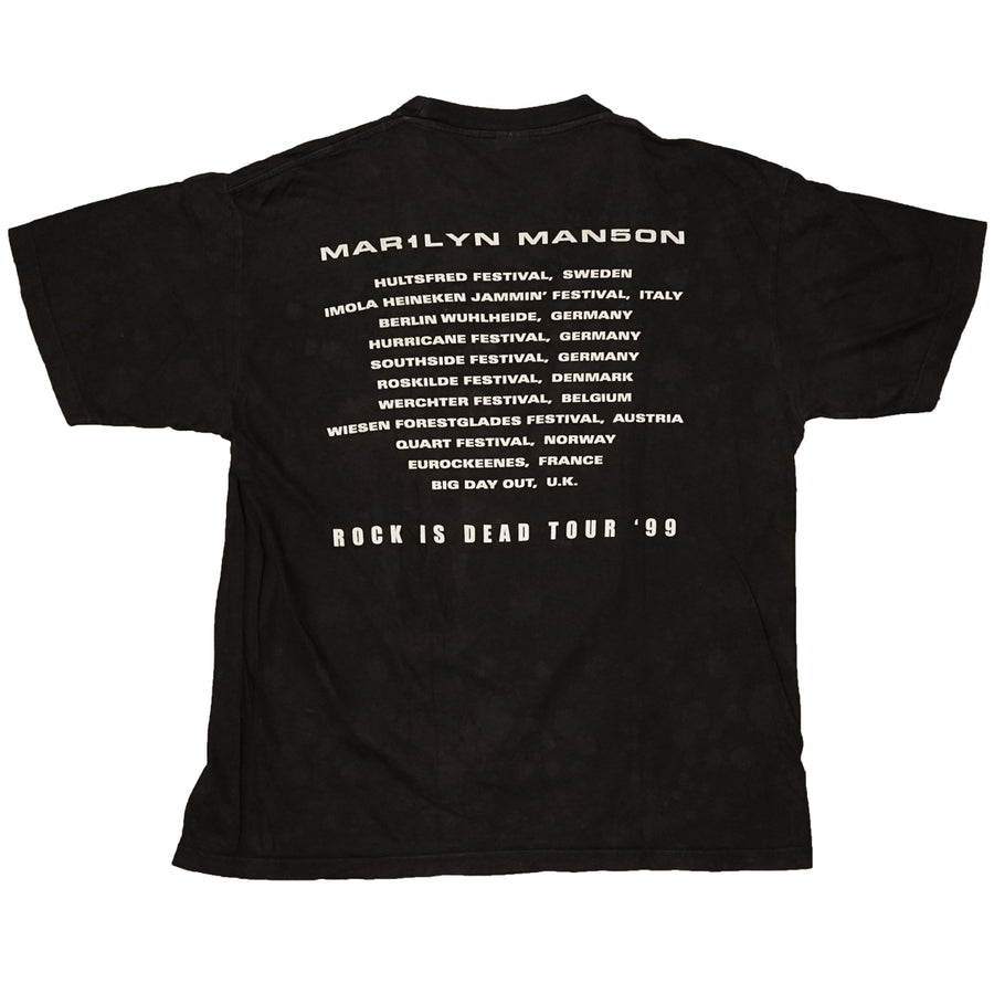 Vintage 1999 Marilyn Manson 'Rock Is Dead Tour' T-Shirt