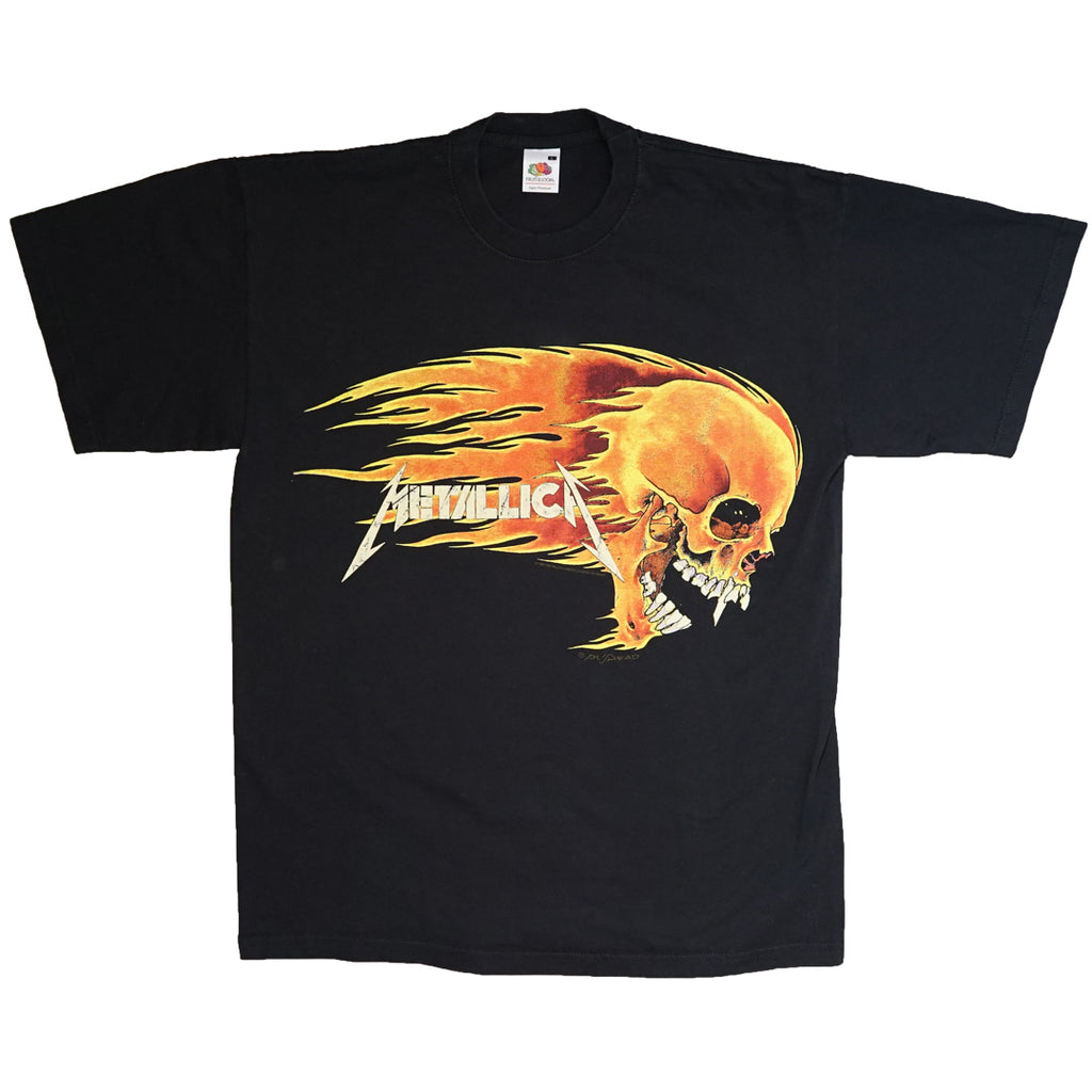 Vintage 1994 Metallica 'Flaming Skull' By Pushead T-Shirt
