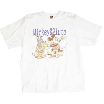 Vintage 90s Disney 'Mickey & Pluto Home Plate' T-Shirt