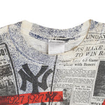 Vintage 90s New York Yankees 'Front Pages' T-Shirt