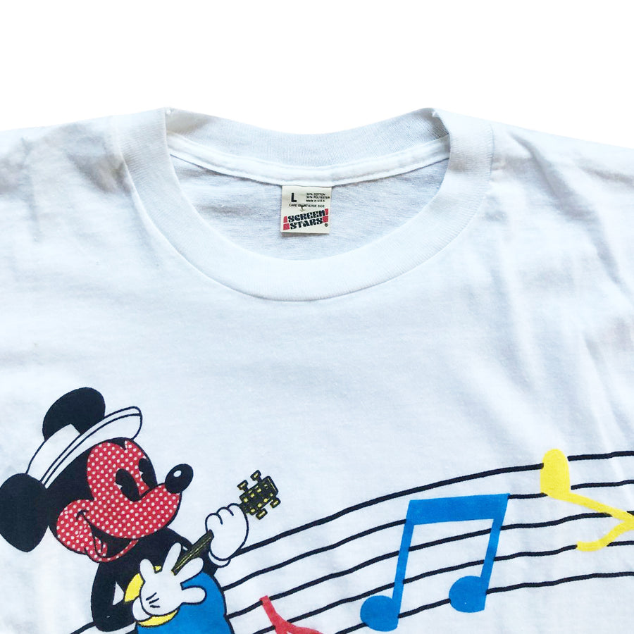 Vintage 80s Disney 'Music Notes' T-Shirt