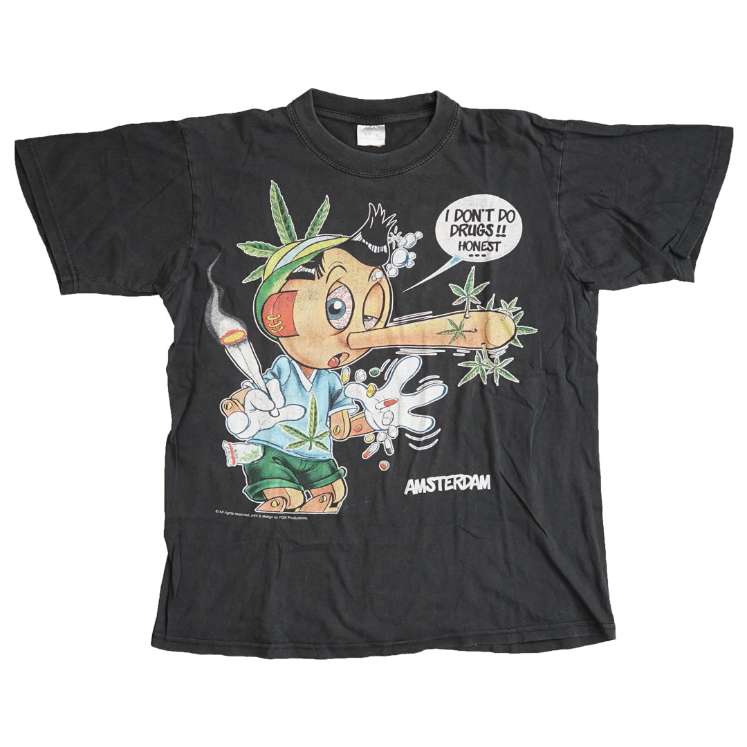 Vintage 90s Pinokkio 'I Don't Do Drugs Honest' T-Shirt
