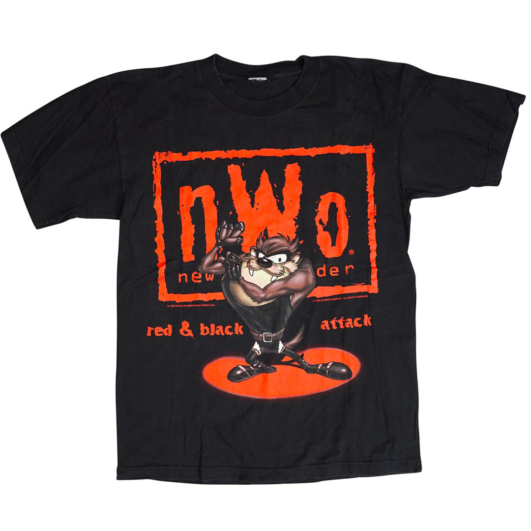 Vintage 1998 Looney Tunes WCW 'New World Order' T-Shirt