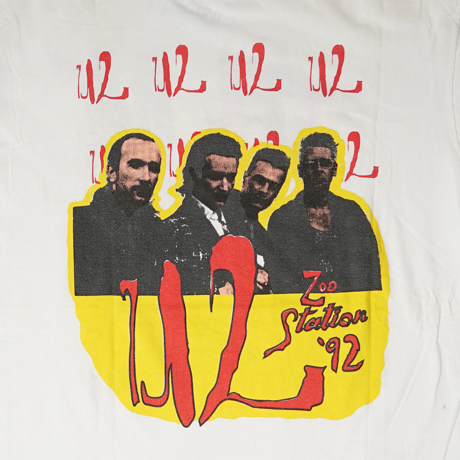 Vintage 1992 U2 'Zoo Station Summer Tour' T-Shirt