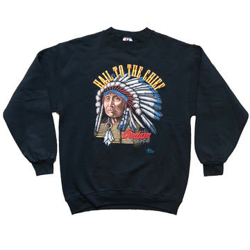 Vintage 1991 Indian Motocycle  'Hail To The Chief' Sweater