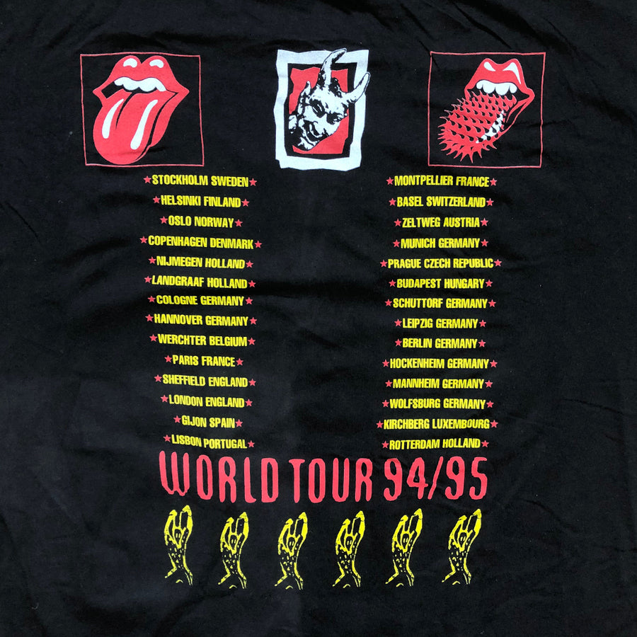 Vintage 1995 The Rolling Stones 'World Tour '94/'95' T-Shirt