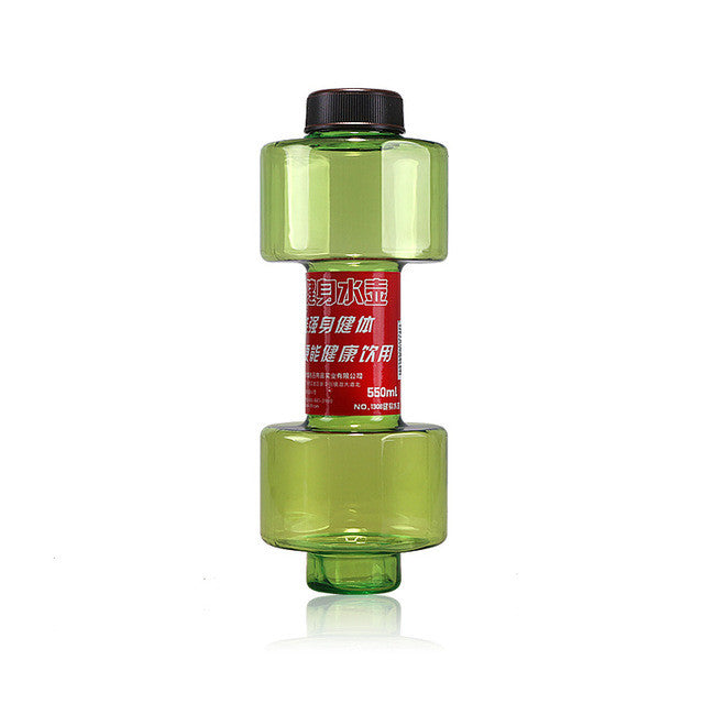 Creative water bottle for water 550ml Dumbbell Fitness Equipment Shape Kettle Space Fruit Juice Bottle Sport Water Bottles