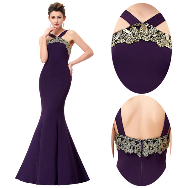 Women Bandage Backless Formal Dress