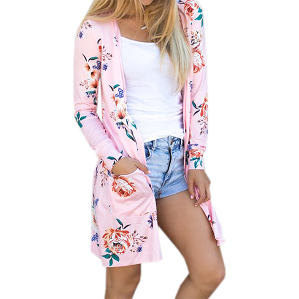 Summer Coat Woman Kimono Casual Floral Cardigans Jackets