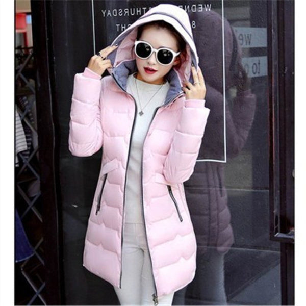 New Wadded Winter Jacket Women Cotton Long Jacket
