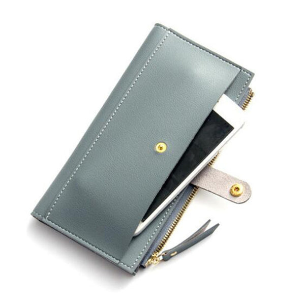 Women Wallets Fashion Hasp Leather Wallet