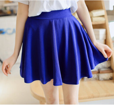 High Waist Women's Mini Skirt Spring Pleated