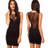 Women's Sexy Lace Hollow out Sleeveless Mini Dress