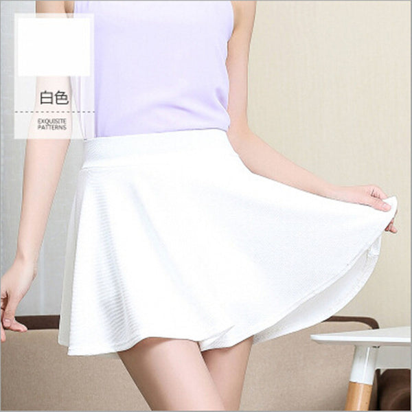High waist sexy women skirt with safety shorts