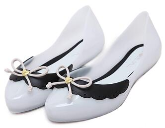 Women lovely bowtie jelly shoes