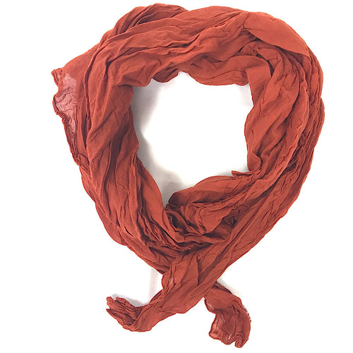 Foulard uni orange brulé