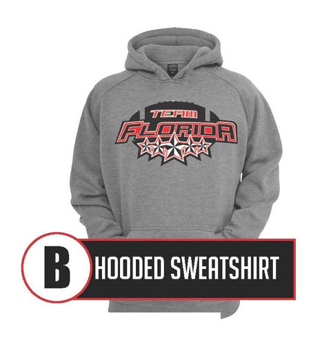 B - Cotton Hooded Sweatshirt