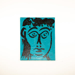 "Peter Keil ""Face on Teal I"""