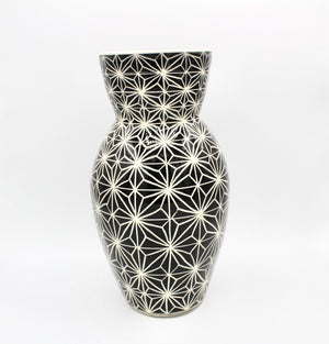 Black and White Porcelain Vase