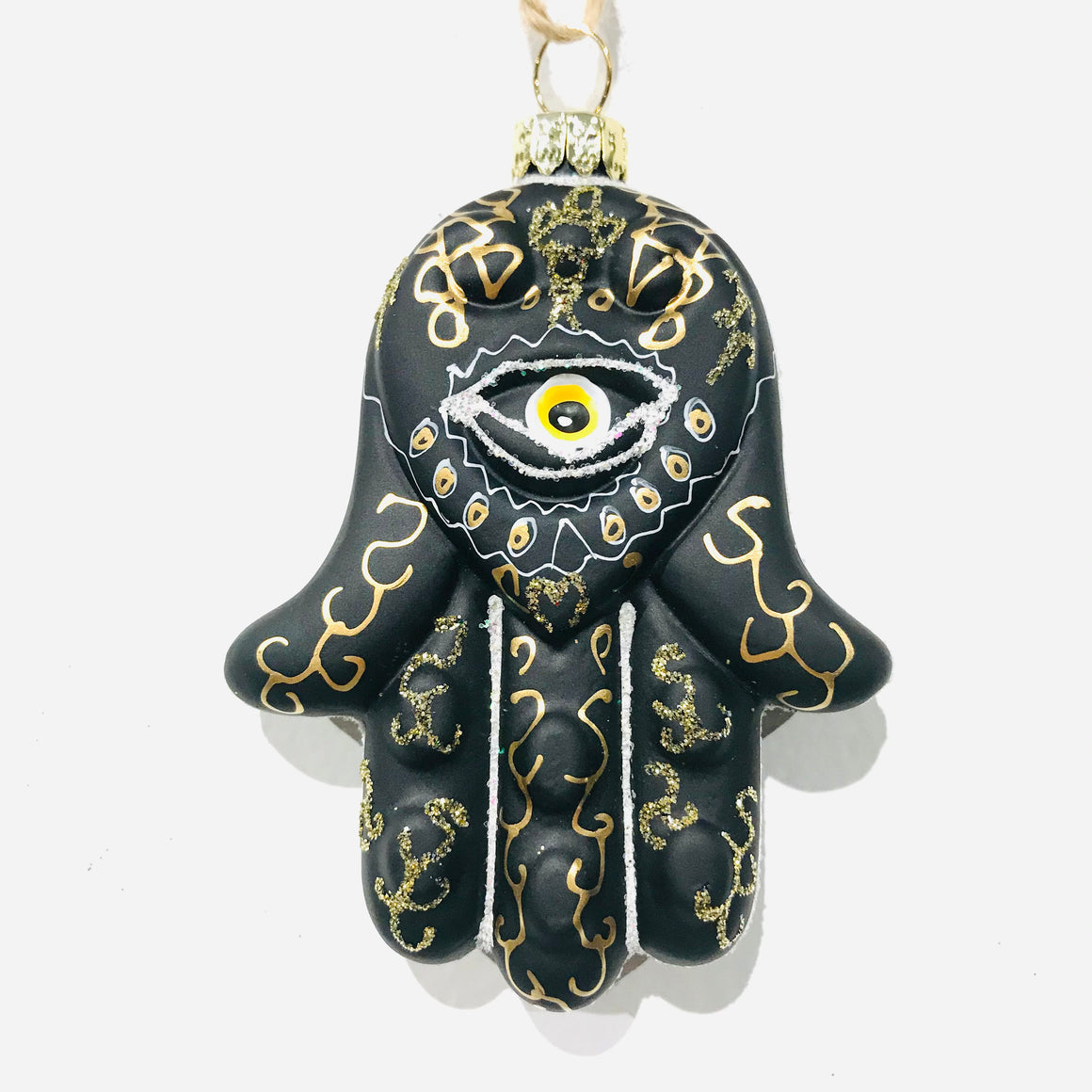 Hand of Fatima Ornament in Black