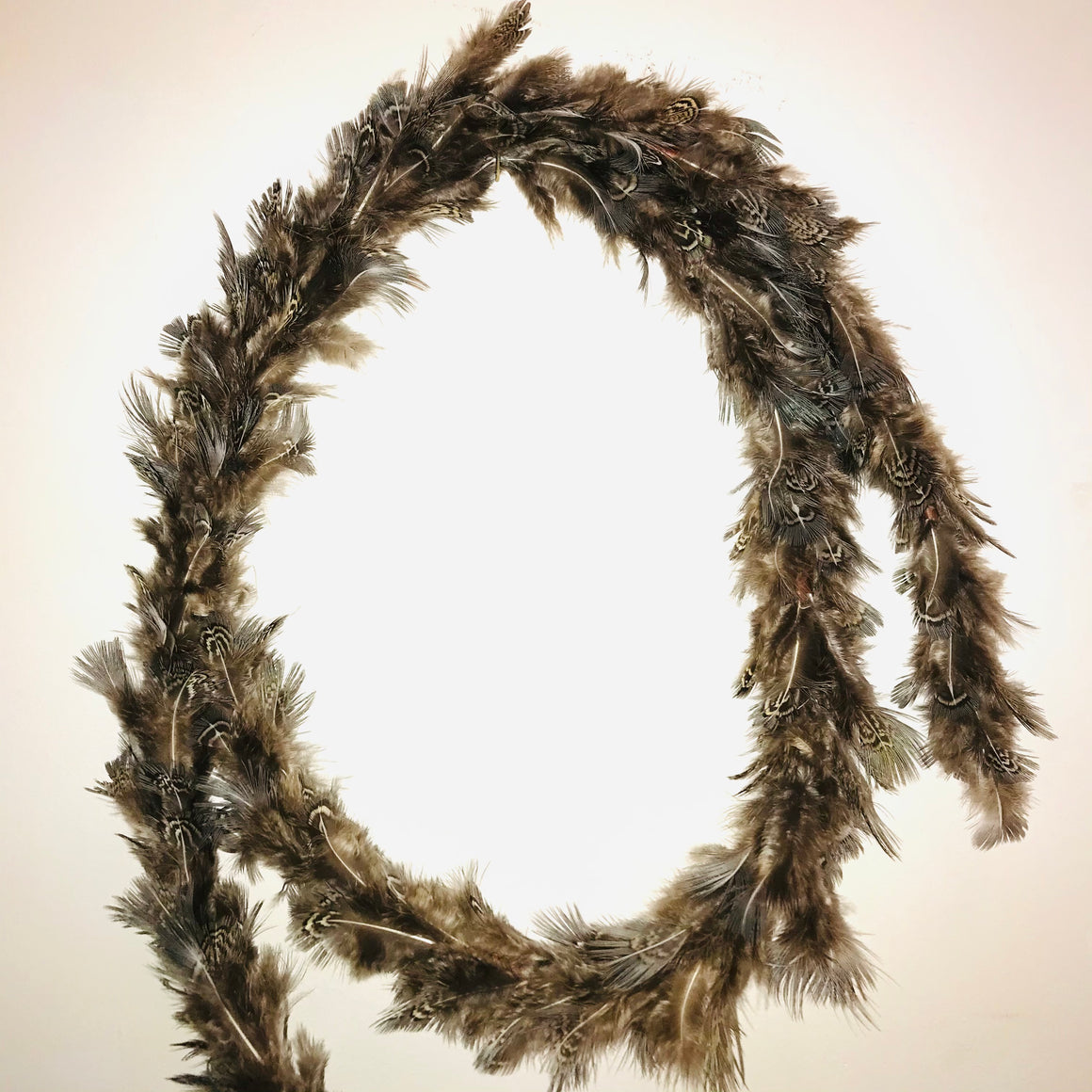 Pheasant Feather Garland Grey and Brown