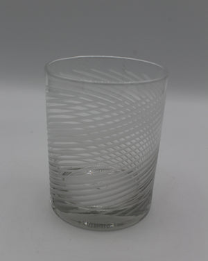Etched Double Old Fashioned Spiral Cut Glass