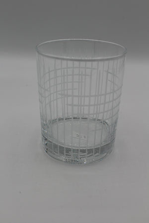 Etched Double Old Fashioned Cross Cut Glass
