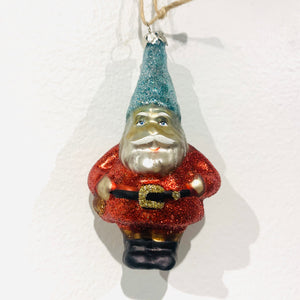 Gnome Ornament in Red and Blue