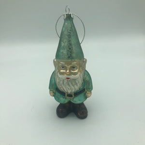 Glass Holiday Gnome Ornament