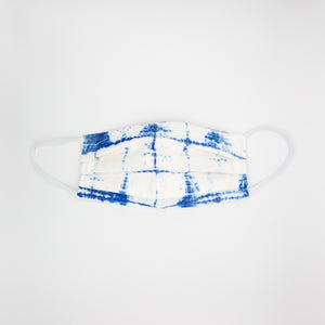 Blue & White Textile Mask