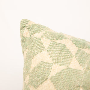 Dark Green Geometric Pillow