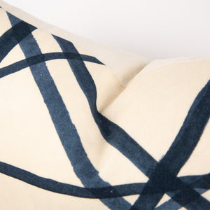 Indigo Channells Ebony Pillow