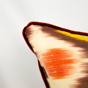 "Multi-Colored ""Happy"" Ikat Pillow"