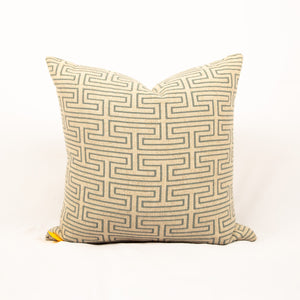 Blue Maze Stitch Pillow