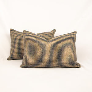 Pair of Houndstooth Lumbar Pillows