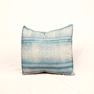 Blue & Ivory Printed Pillow