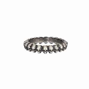 Demetri Band of Skulls Ring