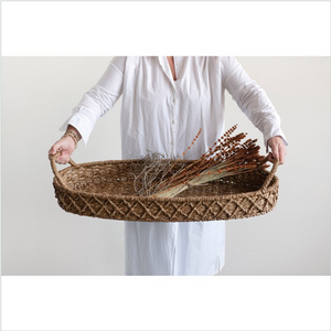 Seagrass Oval Tray w/ Handles