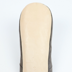 Babouche Suede Slippers- Charcoal