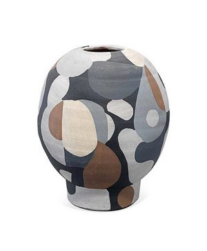 Hand-painted Neutral Colored Pablo Vase Small