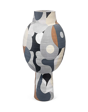 Hand-painted Neutral Colored Pablo Vase Large